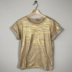 FOREVER 21 Gold Metallic T-shirt